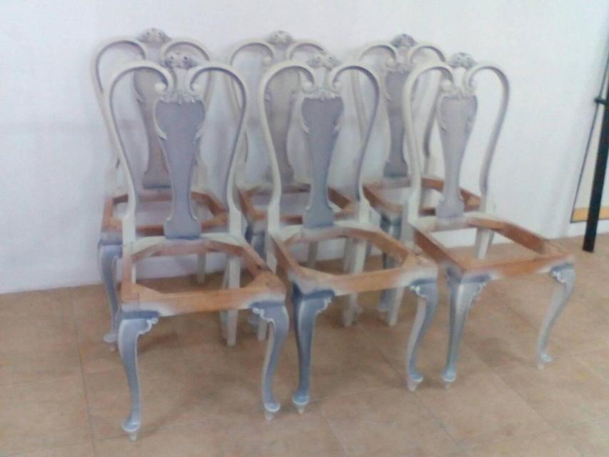 Αναπαλαίωση καρέκλων, πριν το ύφασμα