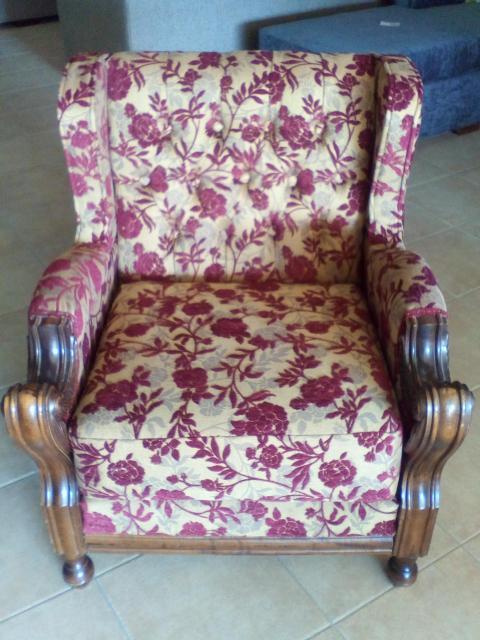 Αλλαγή υφάσματος πολυθρόνας, Βολος Καλιγερης Πολυθρόνα